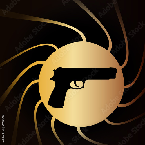 Vector illustration of weapons. Poster
