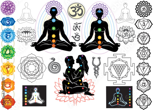 Photo  Chakras and esoteric symbols