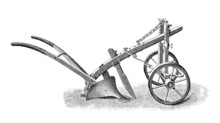 Victorian Engraving Of A Plough