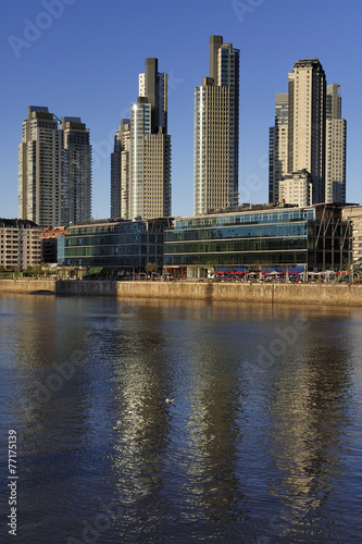 Foto op Canvas Restaurant The waterfront view in Puerto Madero, Buenos Aires