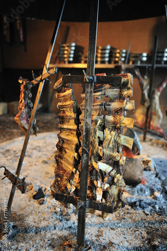 Fotografie, Tablou  Asado, traditional barbecue dish in Argentina