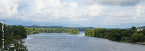 Panorama on the River Minho, the border of Spain and Portugal Canvas-taulu