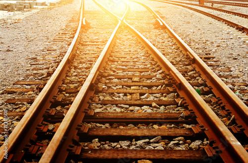 Fotobehang Spoorlijn Rail