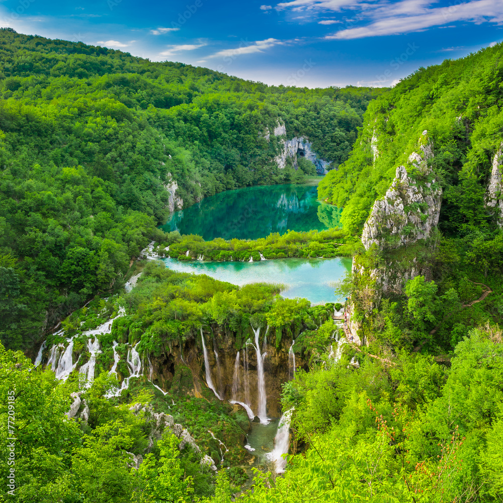 Fototapeta Plitvice Lakes NP from Vidikovac point #3,  Croatia