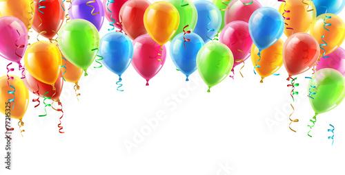 Fotografie, Obraz  Balloons header background
