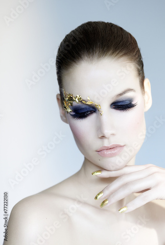 Golden Make Up Tableau sur Toile