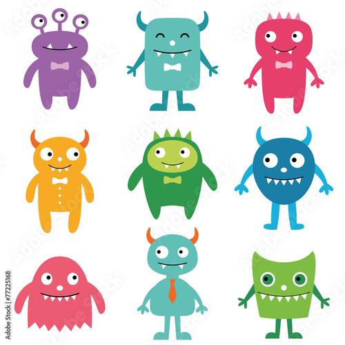 Garden Poster Creatures Friendly monsters set