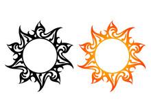 Vector Ornaments, Abstract Sun...