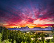 Summer Sunset At Snake River O...