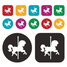 Merry-go-round Icon / Carousel...