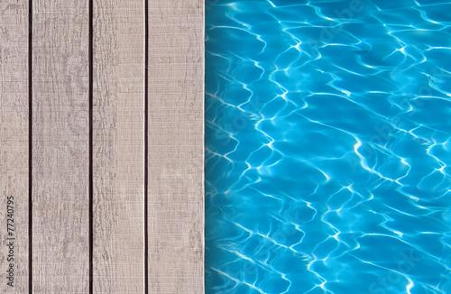 Swimming pool and wooden deck ideal for backgrounds Tapéta, Fotótapéta