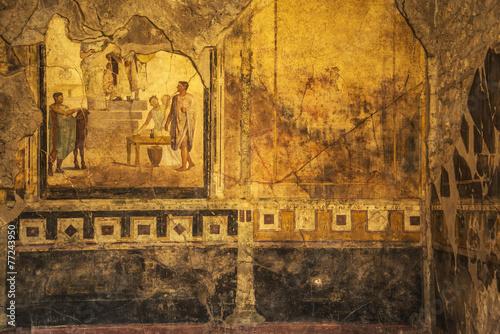 Fotografie, Obraz  Pompeii frescoes