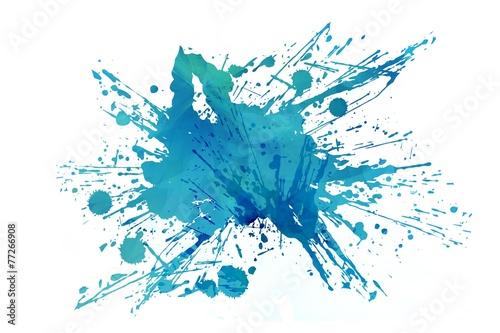 Poster Form Cool Abstract Aqua Splash