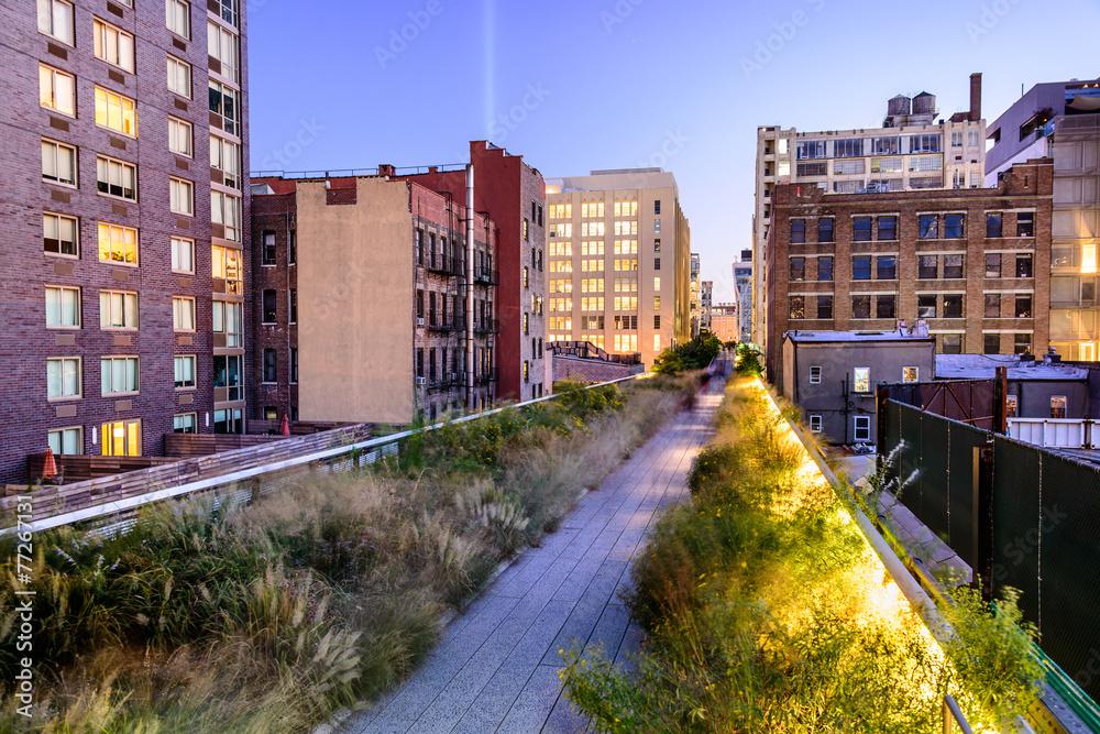 Fototapety, obrazy: New York City in Manhattan on High Line Park