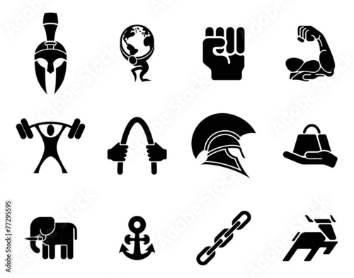 Fotografia  Strength icons