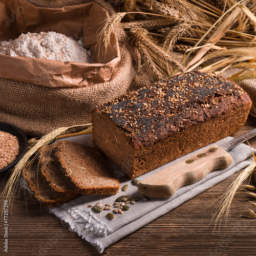 In de dag Bakkerij homemade whole wheat bread