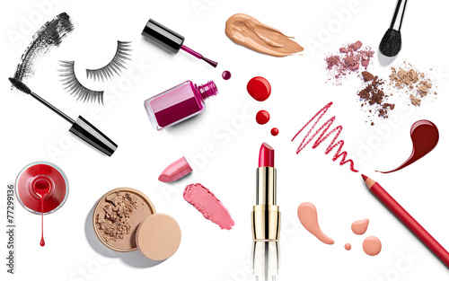 Fotografía make up beauty lipstick nail polish liquid powder mascara pencil