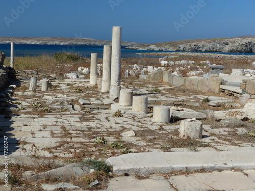 In de dag Rudnes Ruines grecques