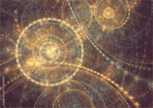 Obraz abstract circle fractal background - fototapety do salonu