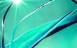 Blatt in der Sonne blau grün