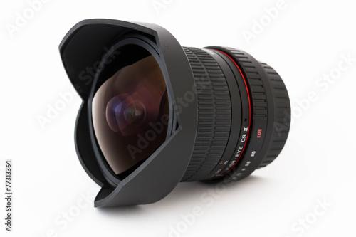 Fotografie, Obraz  Camera lens fish-eye close-up