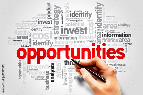Fotografía  Opportunities word cloud, business concept