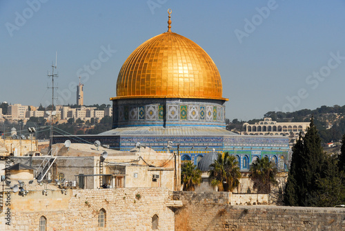 Poster Moyen-Orient Dome of the Rock in Jerusalem, Israel