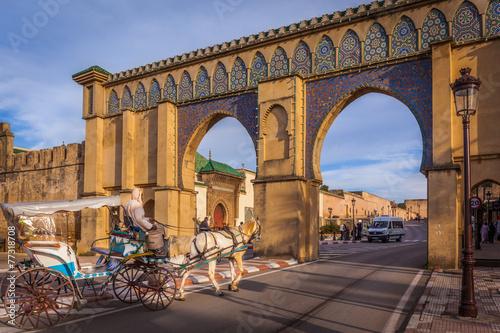 Spoed Foto op Canvas Marokko Bab Moulay Ismail, Meknes