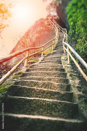 Schody na górze
