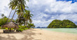 panorama of tranquil tropical beach (Palawan,Philippines)