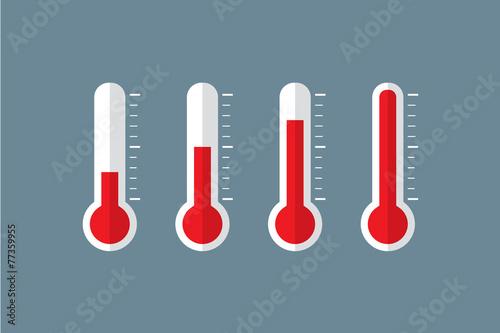 Obraz na plátně thermometer set illustration