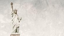 Statue Of Liberty 16:9 Grunge Style Background