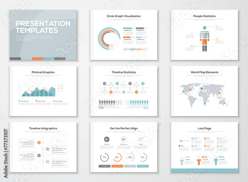 Fotografie, Obraz  Infographics presentation templates and business brochures