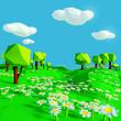Leinwandbild Motiv Kleine Blumenwiese