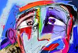 abstrakcyjne malowanie cyfrowe ludzkiej twarzy
