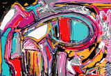 Fototapeta Młodzieżowe - original illustration of abstract art digital painting