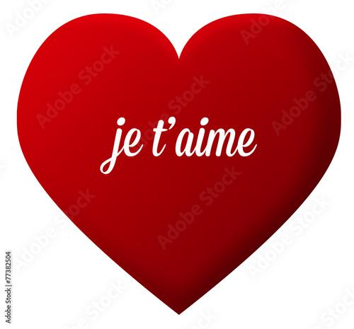 Cœur Amour Je Taime St Valentin Comprar Este Vector De