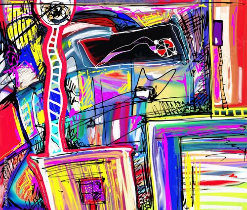 Naklejki abstrakcyjne  original-digital-painting-of-abstraction-composition