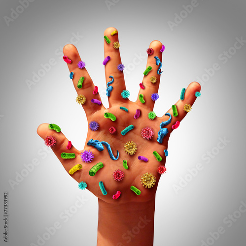 Hand Germs Wall mural