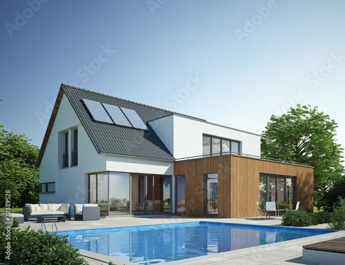 Haus Anbau Mit Pool Buy This Stock Illustration And Explore
