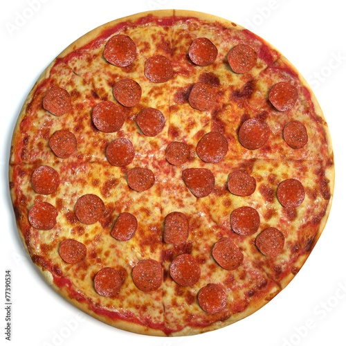 Photo  Pizza top view