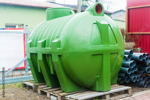 huge septic tank