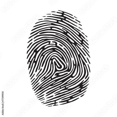 fingerprint Wall mural