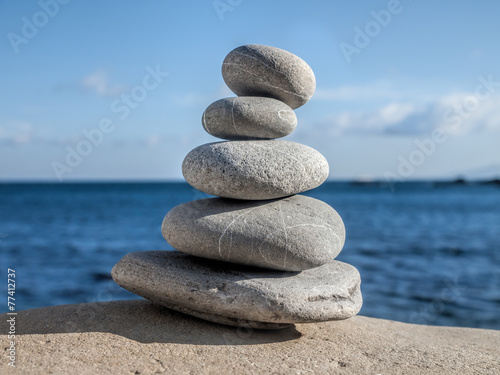Photo sur Plexiglas Zen pierres a sable pebble zen