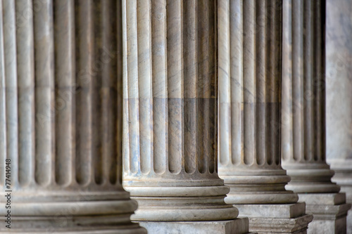 Colonnade In Rome Close Up Canvas Print