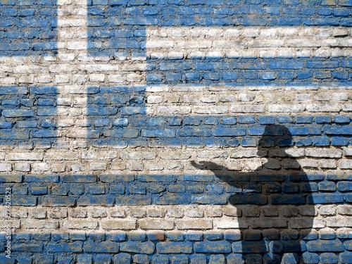 Greece financial crisis Canvas Print