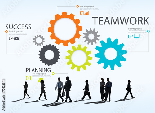 Teamwork Team Group Gear Partnership Cooperation Concept