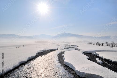 Fotografie, Obraz  魚沼の雪景色