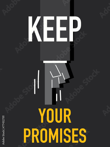 Word KEEP YOUR PROMISES Wallpaper Mural