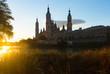 Cathedral in sunny morning. Zaragoza, Spain